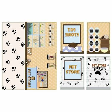 iWALLZ 6-teiliges Sticker-Set 22 x 10,5 cm i8022[8/8]