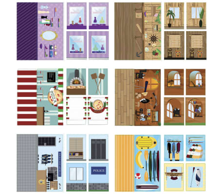 iWALLZ 6-teiliges Sticker-Set 22 x 10,5 cm i8023[2/8]