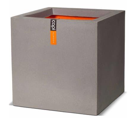 Capi Truhlík Urban Smooth čtvercový 30 x 30 x 30 cm šedý KGR902