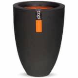 Capi Vase Urban Smooth Elegant Niedrig 26x36 cm Schwarz PKBL781