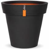 Capi Pot à fleurs Urban Smooth Bord 48 x 44 cm Noir PKBL100