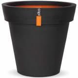 Capi Vase Blumentopf Urban Smooth Umrandung 48x44 cm Schwarz PKBL100