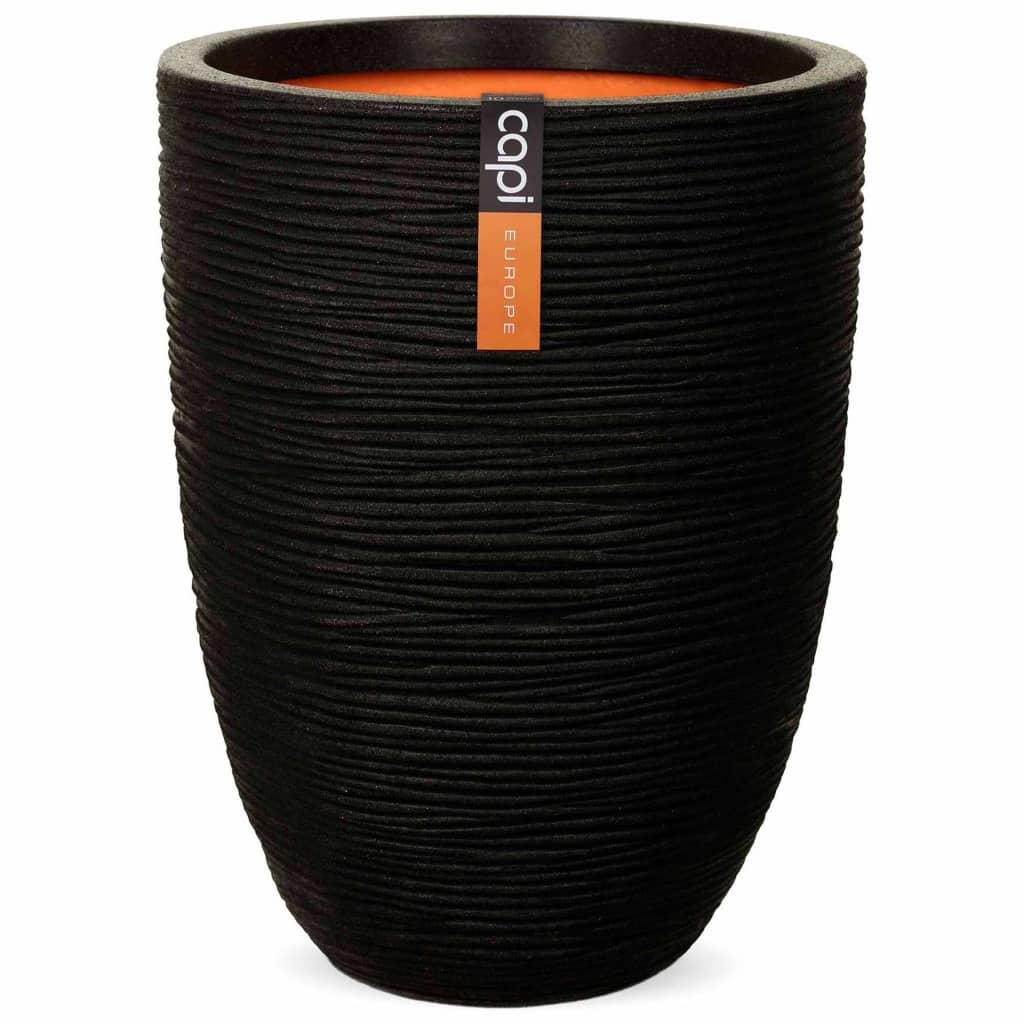 Capi Vas plante Nature Rib elegant, negru, 46 x 58 cm, adânc, KBLR783 poza 2021 Capi
