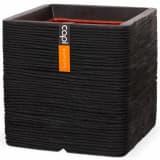 Capi Fyrkantig odlingslåda Nature Rib 30x30 cm svart PKBLR902