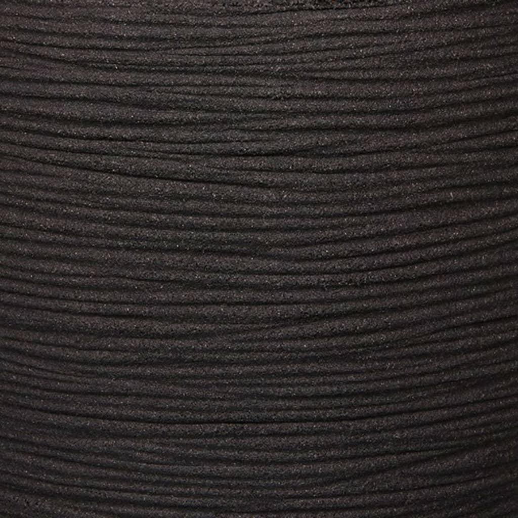 Capi Bloempot Nature Rib 54x52 cm zwart KBLR935