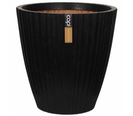 Capi Bloempot Urban Tube taps 55x52 cm zwart KBLT802