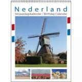 Nederland Verjaardagskalender A4