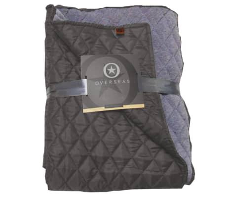 Overseas Kviltat täcke taft/jersey 130x150 cm antracit[1/2]