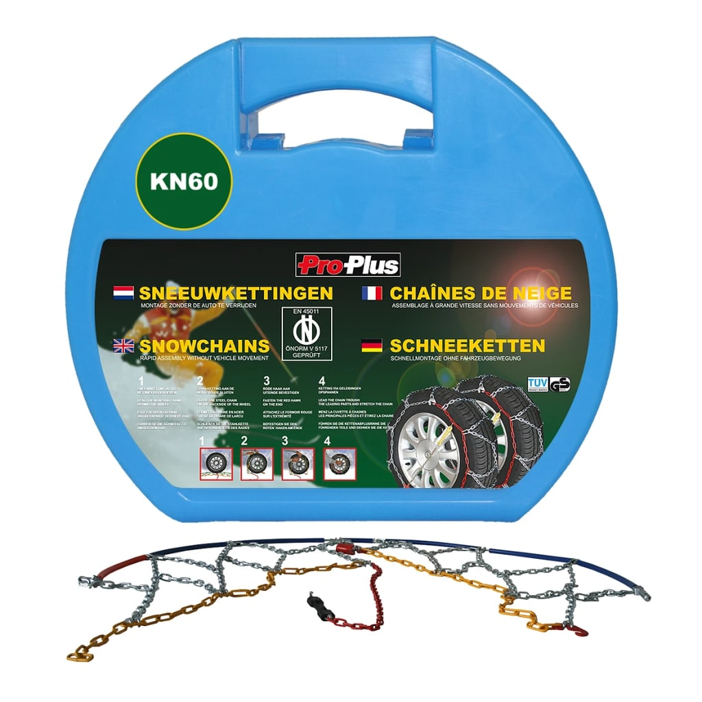 ProPlus Lanțuri de zăpadă pentru anvelope auto 12 mm KN60, 2 buc. imagine vidaxl.ro