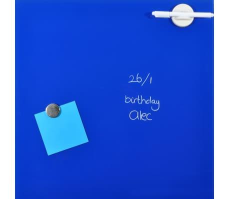 DESQ Glas-Magnettafel 45 x 45 cm Blau