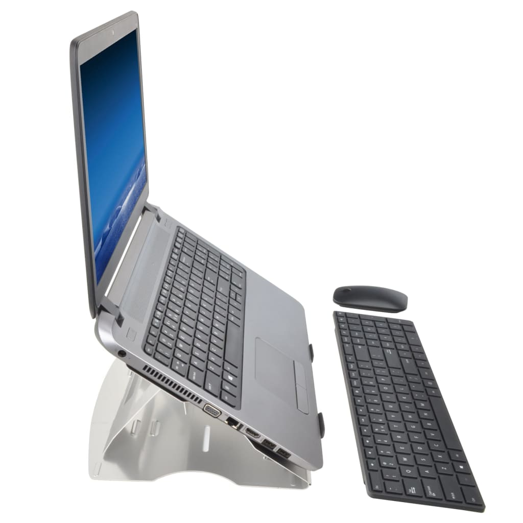 Foto van DESQ Laptopstandaard 35x24x0,6 cm zwart
