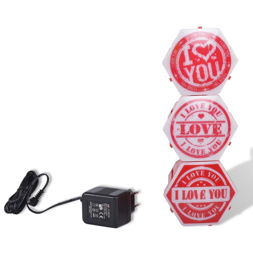 """Party Fun Lights """"I love you""""-partylampe"""