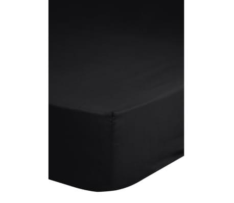 acheter descanso drap housse double jersey 140 x 200 cm noir pas cher. Black Bedroom Furniture Sets. Home Design Ideas