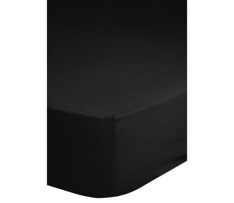 Emotion Drap-housse en Jersey 160 / 180 x 200 cm Noir 0200.04.46
