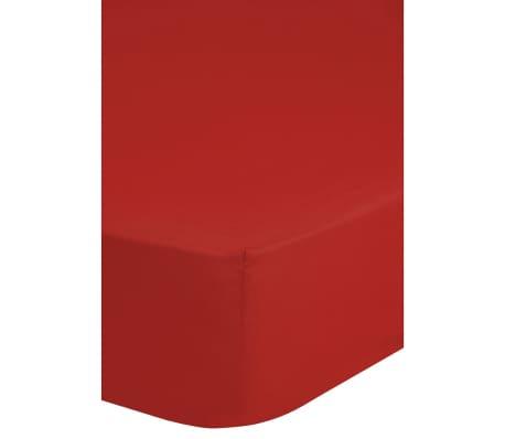 acheter emotion drap housse en jersey 90 100 x 200 cm rouge pas cher. Black Bedroom Furniture Sets. Home Design Ideas