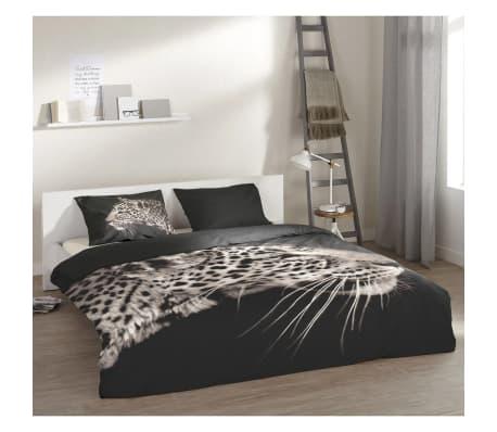 acheter pure housse de couette 4872 m leopard 135x200 cm noir pas cher. Black Bedroom Furniture Sets. Home Design Ideas