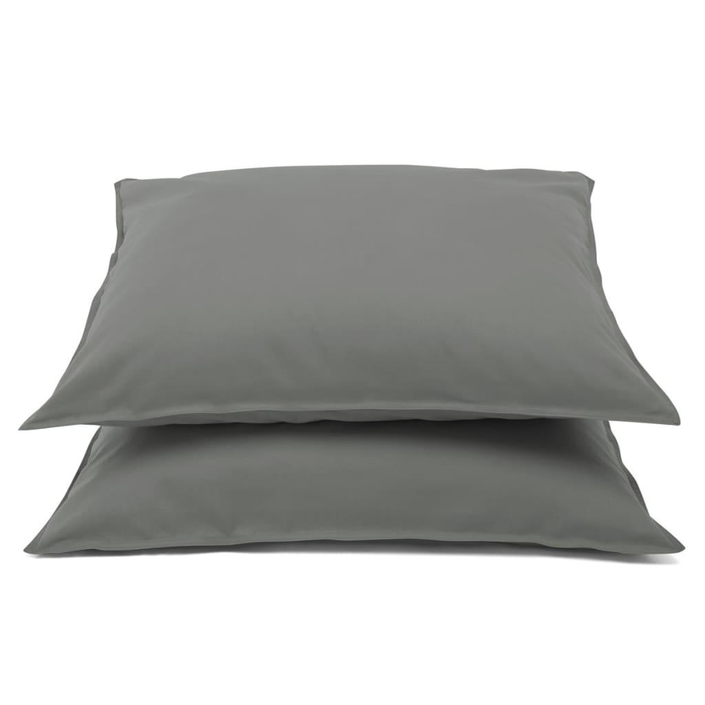 Emotion Nežehlivé povlaky na polštáře 2 ks 60x70cm tm. šedé 0222.03.71