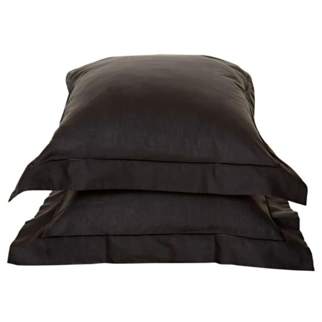 Emotion Nežehlivé povlaky na polštáře 2 ks 60 x 70 cm černé 0222.04.71