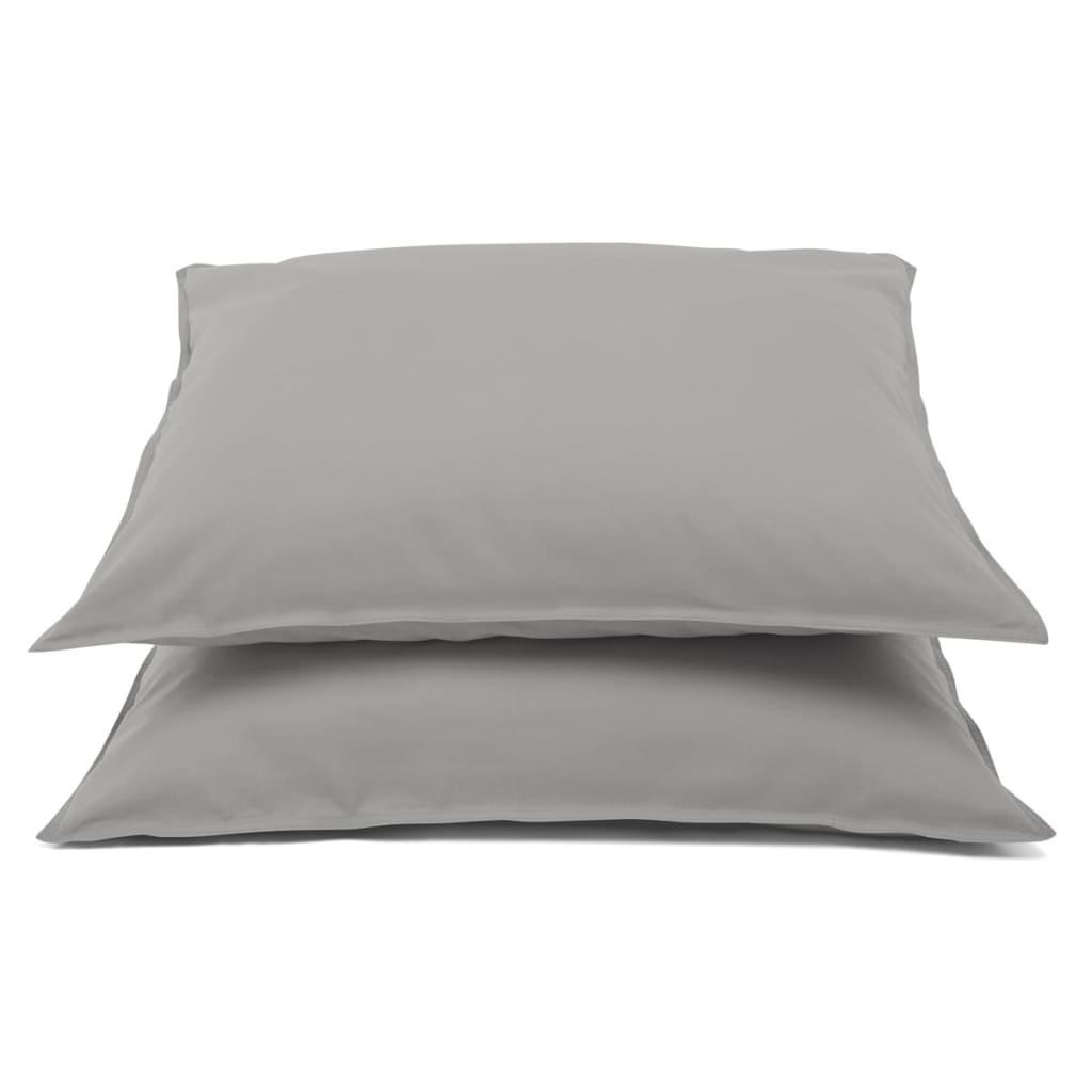 Emotion Nežehlivé povlaky na polštáře 2 ks 60x70cm sv. šedé 0222.50.71