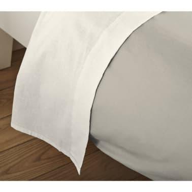 acheter emotion drap plat sans repassage 200 x 260 cm cru pas cher. Black Bedroom Furniture Sets. Home Design Ideas