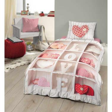 good morning bettw sche set 5197 p love 140 200 220 cm mehrfarbig zum schn ppchenpreis. Black Bedroom Furniture Sets. Home Design Ideas