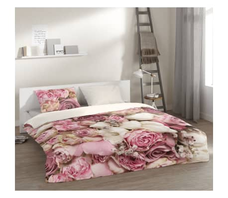 pure bettw sche set 5140 m roses 140 200 220 cm mehrfarbig zum schn ppchenpreis. Black Bedroom Furniture Sets. Home Design Ideas