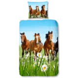 Good Morning Bettwäsche 5316-P HORSES 140x200/220 cm Mehrfarbig