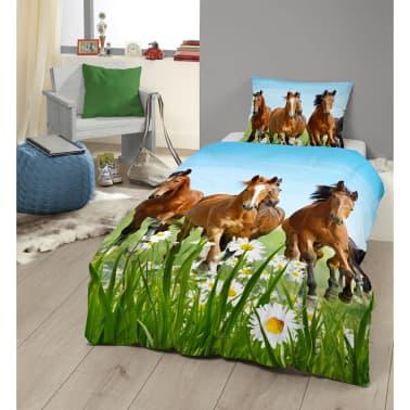 Good Morning Bäddset 5316-P HORSES 140x200/220 cm flerfärgat[2/2]