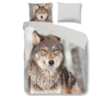 good morning bettw sche set 5703 p wolf 140 x 200 220 cm mehrfarbig g nstig kaufen. Black Bedroom Furniture Sets. Home Design Ideas
