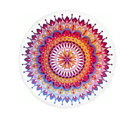 acheter hip serviette de plage 5615 h chantal 160 cm rond multicolore pas cher. Black Bedroom Furniture Sets. Home Design Ideas