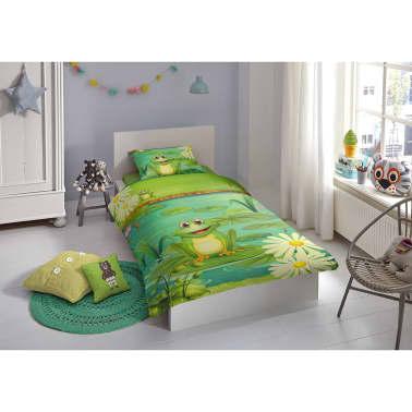 Good Morning Bäddset 5610-P Frogs 140x200/220 cm grön[2/2]
