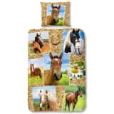 Good Morning Housse de couette 5752-P HORSES 140x200/220cm Multicolore