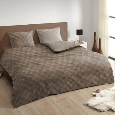 descanso bettw sche set 9310 k taupe 140 200 220 cm g nstig kaufen. Black Bedroom Furniture Sets. Home Design Ideas