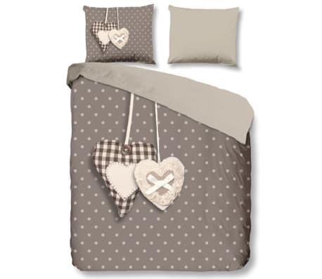 acheter good morning housse de couette 5785 p hearts 240x200 220 cm taupe pas cher. Black Bedroom Furniture Sets. Home Design Ideas