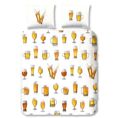 acheter good morning housse de couette 5808 a beerglass 200x200 220 cm blanc pas cher. Black Bedroom Furniture Sets. Home Design Ideas