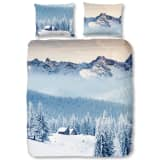Good Morning Bettwäsche-Set 5661-P MOUNTAINS 140 x 200/220 cm Blau