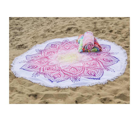 HIP Serviette de plage 2069-H Mirazo 160 cm Rond Multicolore[2/4]