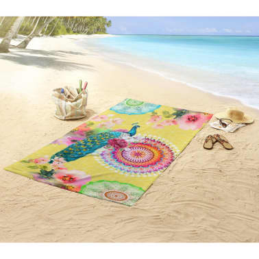 HIP Ręcznik plażowy 5584-H Yelpea, 100 x 180 cm, żółty[3/3]