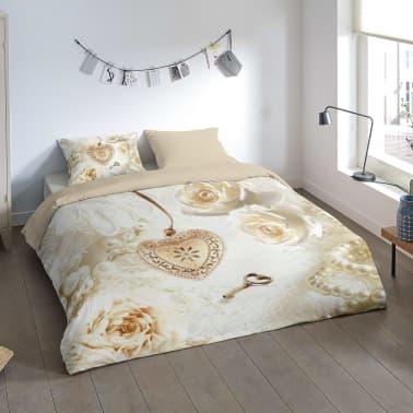 acheter pure housse de couette 6044 m love 140x200 220 cm cr me pas cher. Black Bedroom Furniture Sets. Home Design Ideas
