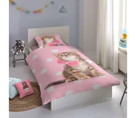 Good Morning Bäddset SWEET CAT för barn 135x200 flanell[2/2]