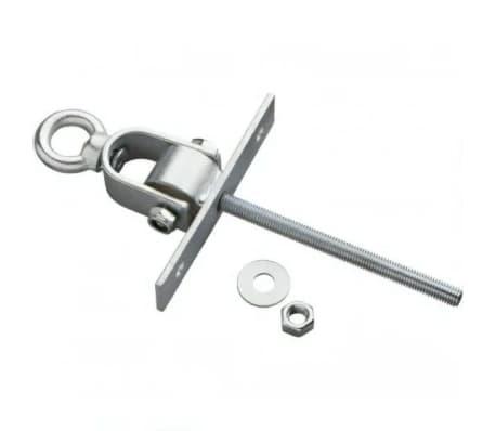 schommelhaak met oogmoer M12 x 160 mm verzinkt zilver
