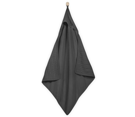 Jollein Bath Cape 75x75 cm Câble Tricoté Anthracite 534-836-64897[1/3]