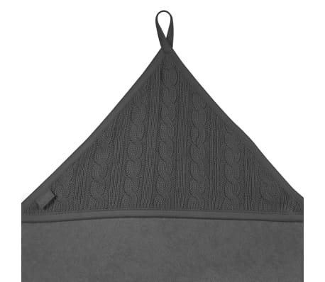 Jollein Bath Cape 75x75 cm Câble Tricoté Anthracite 534-836-64897[3/3]