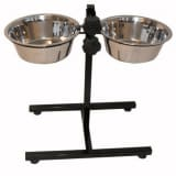 @Pet Twin Pet Feeder Stand 8 L Black 17228