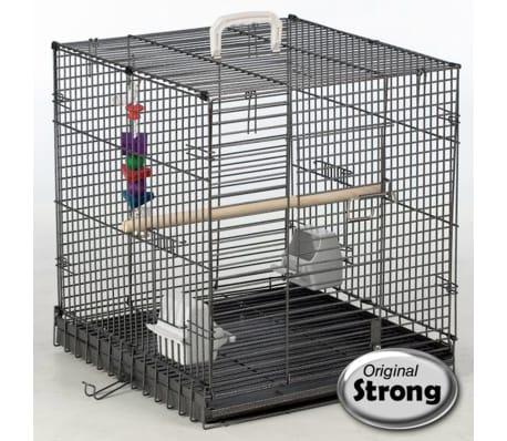 Strong Reiskooi voor vogels Traveller 46x48x52 cm zilvergrijs 99034[1/2]