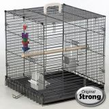 Strong Vogeltransportbox Traveller Silverstone Grau 46x48x52 cm 99034