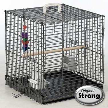Strong Reiskooi voor vogels Traveller 46x48x52 cm zilvergrijs 99034[2/2]