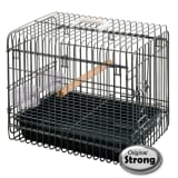 Strong Transportín para pájaros Light 33x45x39 cm negro 99036