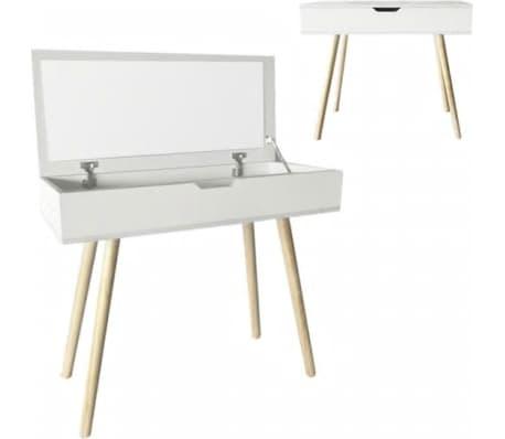 Kaptafel visagie opmaaktafel | bureau met inklapbare spiegel 90 cm