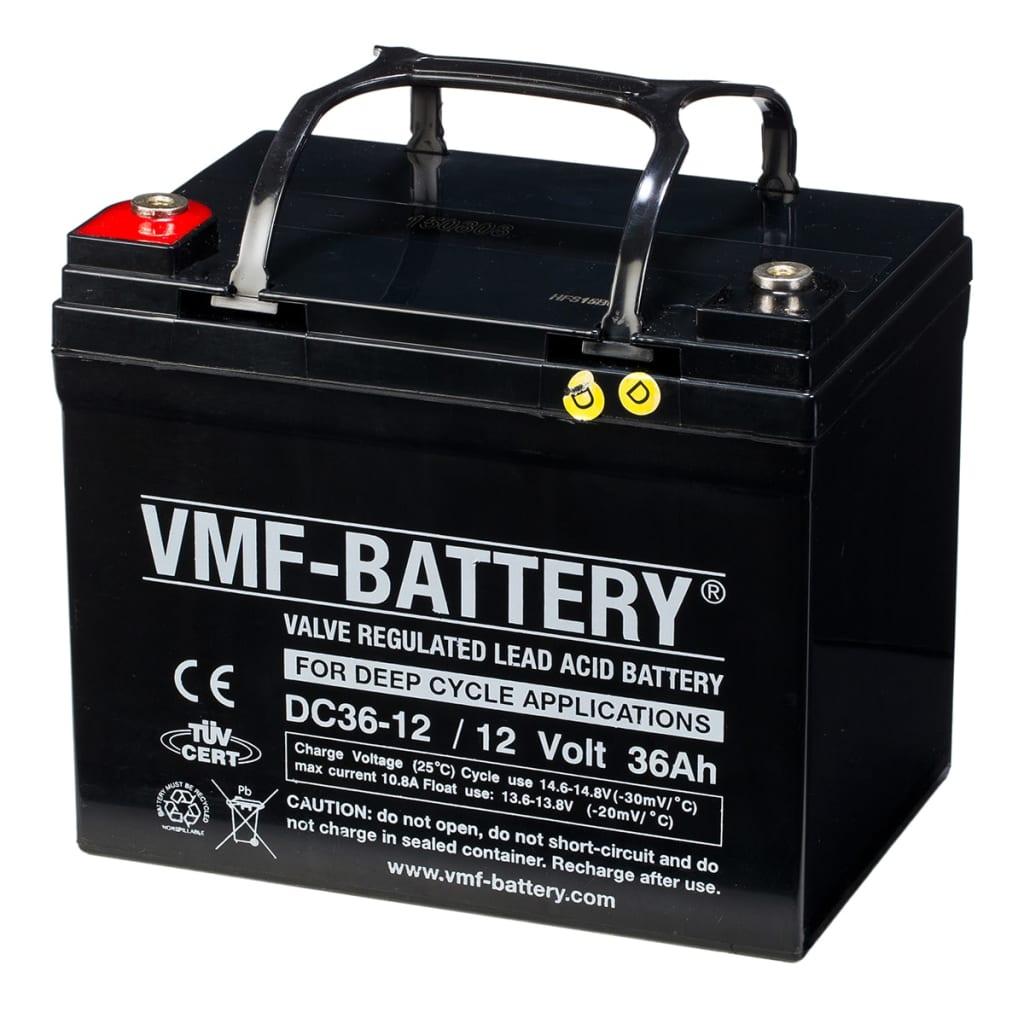VMF Baterie AGM cu ciclu adânc de descărcare, 12 V 36 Ah DC36-12 vidaxl.ro